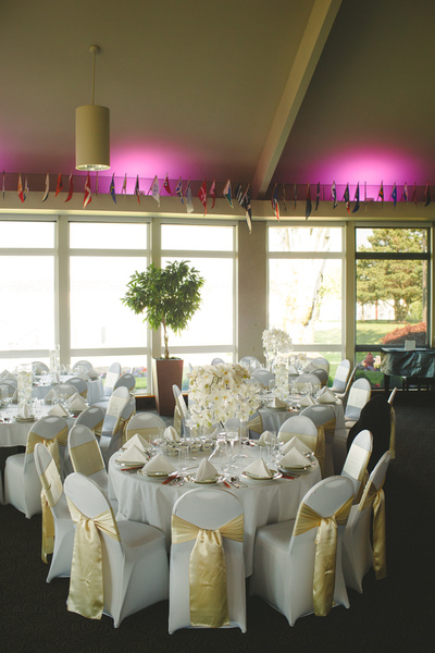 Columbia River Yacht Club Portland Wedding Lights