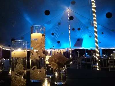 Abernethy Center wedding uplighting tent