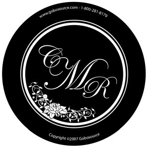 wedding gobo monogram design template portland oregon uplighting event lighting