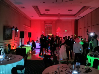 Crowne Plaza Portland Hotel Bellmont ballroom wedding uplighting