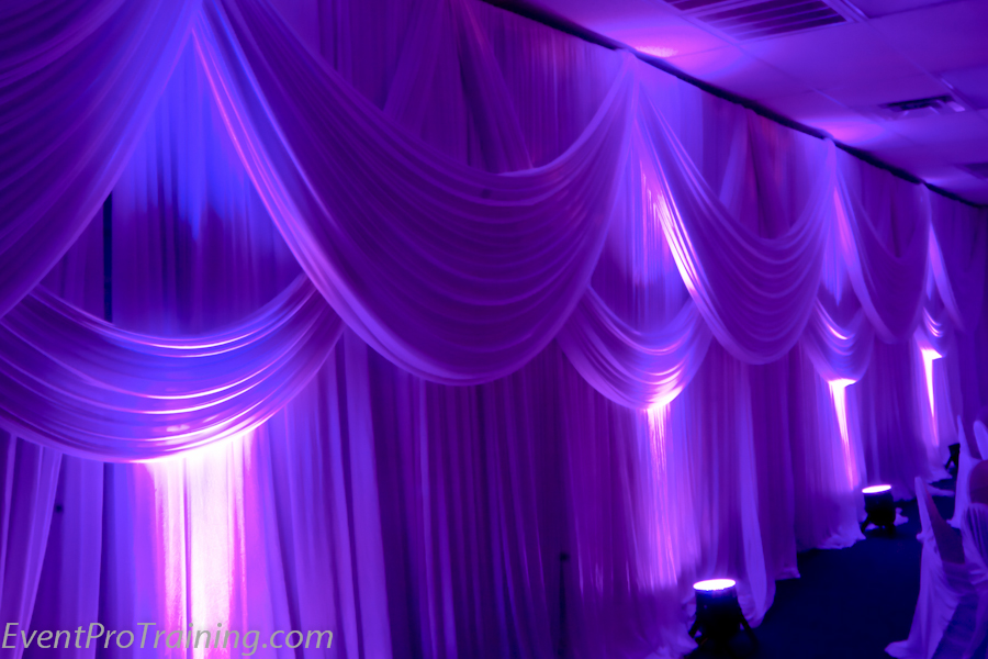 Draping for weddings and events - Portland Wedding Lights