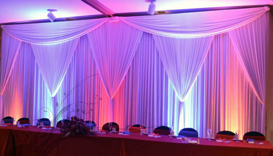 Pipe and Drape - Portland Wedding Lights