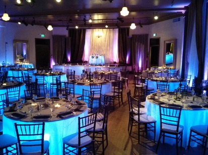 West End Ballroom Portland wedding uplighting