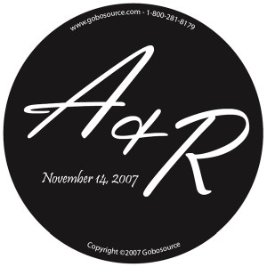 wedding gobo monogram design template portland oregon